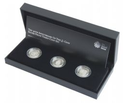 2013 UK Silver Proof 30th Anniversary of the One Pound Coin Royal Arms Silver Set for sale